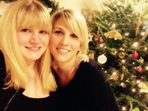 Mon premier Noël, en compagnie d'un de mes plus vielle amie : Amandine