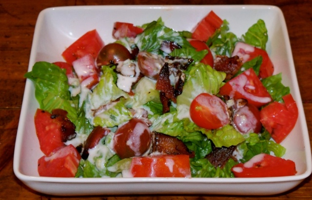 B.L.T. Salad with Buttermilk Dressing